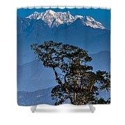 Singalila Ridge Sikkim Shower Curtain