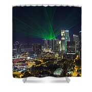 Singapore Central Business District Skyline Shower Curtain