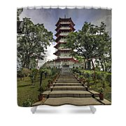 Singapore Chinese Garden Pagoda Shower Curtain