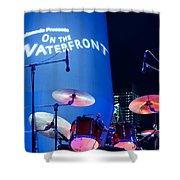 Singapore Drum Set 03 Shower Curtain