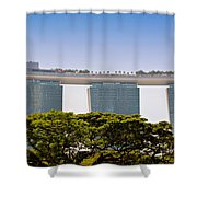 Singapore Marina Bay Sands And Skypark Shower Curtain