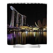 Helix Bridge To Marina Bay Sands Shower Curtain