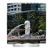 Singapore Merlion Park Shower Curtain