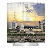 Singapore Parliament Building And Supreme Law Court  Shower Curtain