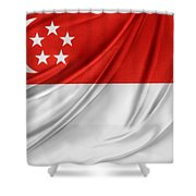 Singaporean Flag Shower Curtain