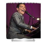 Singer Michael Feinstein Performing With The Pasadena Pops. Shower Curtain