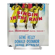 Singin In The Rain Shower Curtain by Georgia Fowler