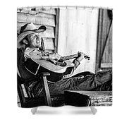 Singing Cowboy Shower Curtain