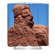 Singing Rock At Arches Np Shower Curtain