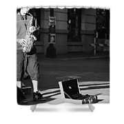 Singing Streets  Shower Curtain