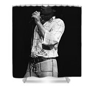 Singing With His Heart And Soul Shower Curtain