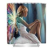 Single Fairy Shower Curtain