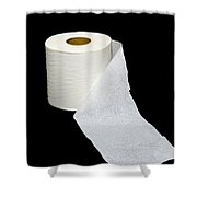 Single Ply Toilet Paper Shower Curtain