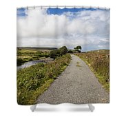 Single Track Road Shower Curtain