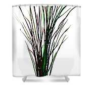 Single Winter Tree Painting Isolated Shower Curtain
