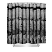 Singles In Black And White Shower Curtain