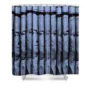 Singles In Cyan  Shower Curtain