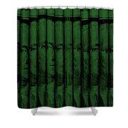 Singles In Dark Green Shower Curtain