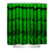 Singles In Green Shower Curtain