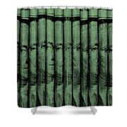 Singles In Light Green Shower Curtain