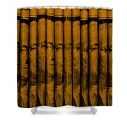 Singles In Orange Shower Curtain