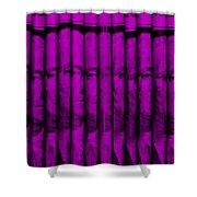Singles In Purple Shower Curtain