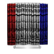 Singles In Red White And Blue Shower Curtain
