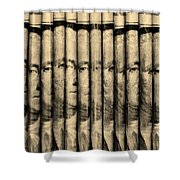 Singles In Sepia Shower Curtain
