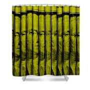 Singles In Yellow Shower Curtain