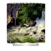 Sinks Waterfall Shower Curtain by Karen Wiles
