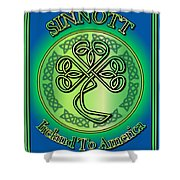 Sinnott Ireland To America Shower Curtain