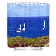 Sint Maarten Regatta Shower Curtain