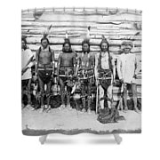 Sioux War Party Shower Curtain