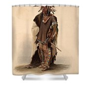 Sioux Warrior Shower Curtain