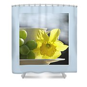 Sipping Spring Shower Curtain