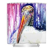 Sir Archibald Woodward Woodstork IIi Shower Curtain