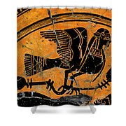 Siren With Lotus Buds - Detail No. 1 Shower Curtain