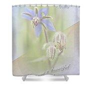 Sister Birthday Greeting Card - Borage - Borage Officinalis Shower Curtain