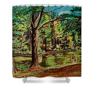 Sisters At Wason Pond Shower Curtain