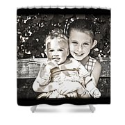 Sisters In Sepia Shower Curtain
