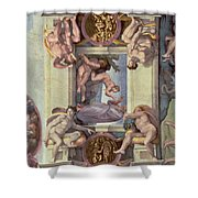 Sistine Chapel Ceiling 1508-12 The Creation Of Eve, 1510 Fresco Post Restoration Shower Curtain