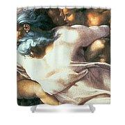 Sistine Chapel Ceiling Creation Of Adam Shower Curtain by Michelangelo Buonarroti