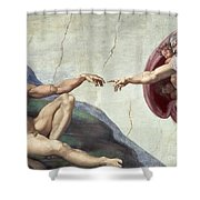 Sistine Chapel Ceiling Shower Curtain by Michelangelo Buonarroti