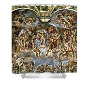 Sistine Chapel The Last Judgement, 1538-41 Fresco Pre-restoration Shower Curtain