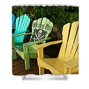 Sit At Your Own Risk Shower Curtain