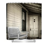 Sit Awhile Shower Curtain
