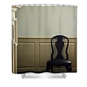 Sit By The Fire Shower Curtain by Margie Hurwich