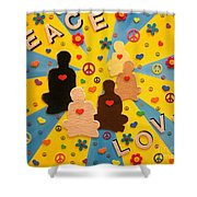 Sit Down And Change The World Shower Curtain