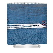 Sit Down Hydrofoil Ski Sport Shower Curtain