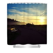 sit With Me And Watch The Sunset Shower Curtain